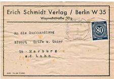 Deutsche Briefmarken der alliierten Besatzung mit Briefstück für Post, Kommunikation