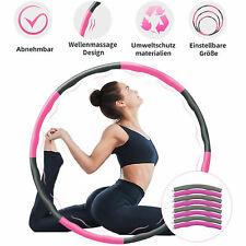 Hula Hoop 8 Teile 1,2KG Reifen Fitness Schaumstoff Bauchtrainer READ DESCRIPTION