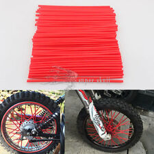 Red Wheel Spoke Wraps Skin Trim Cover Pipe Motorcycle Motocross Dirt Bike 72pcs