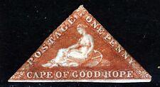 Cabo de Buena Esperanza 1853 un centavo pálido Ladrillo-Rojo wmk Ancla SG 1 A como Nuevo