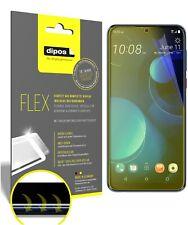 3x HTC Desire 19 Plus Schutzfolie Folie, 100% Displayabdeckung, dipos Flex