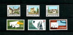 Cyprus 1978 Europa-Architecture SG 502/4 &1979 Europa-Communication SG 520/2 MNH