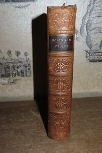 1865 ROBINSON CRUSOE by DANIEL DEFOE 9 PLATES MAN FRIDAY FINE BINDING @