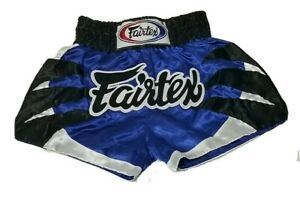 Fairtex Muay Thai MMA Boxing Shorts Blue Satin BS0612 Animal collection Spider
