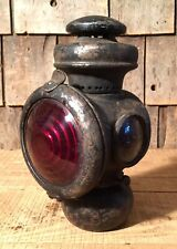 Antique FORD Model Edmonds & Jones Car Auto Oil Lamp Light Lantern Red Lens