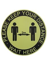 Social Distancing Floor Frosted Anti Slip PVC Stickers size 30.5cm Diameter x 5