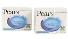 Pears Soap 2 Pack Blue with Cooling Spearmint and Menthol Extracts
