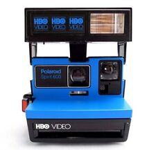 Vintage POLAROID Spirit 600 Film Camera Promotional Blue & Black HBO Video 1980s