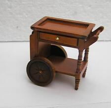 Dolls House  1:12  Furniture Mahogany Colour Tea Trolley