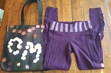 LULULEMON Speed Tight Pants *BRUSHED 6 Run Reflective Deep Zinfandel Pockets