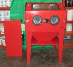 Sand Blast Cabinet Twin Door SB350 with Stand alone Dust Extractor. Sand Blaster