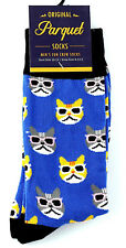 Cats In Sunglasses Men's Socks Novelty Casual Fashion Cat Crew Animal Blue Sock
