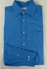 Schickes JACQUES BRITT Langzarm Sommer Hemd,  Baumwolle türkisblau Gr. KW 43 XL