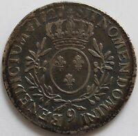 LOUIS XV ECU AUX BRANCHES D'OLIVIER 1727 9 RENNES