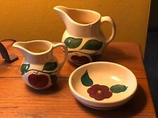 Watt 15 Apple and Small 62 Apple Pitchers Pansy Salad Bowl Pottery