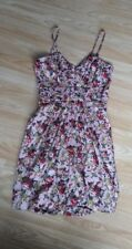 ladies brand new pink floral bubble dress size XS