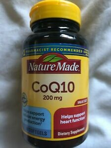 New Nature Made CoQ10 200 MG 80 Softgels Cellular Energy Heart Supplement