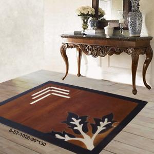 Modern floor rugs patchwork cowhide rug Bohemian new rugs online AU 8-57