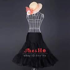 n'Roll Swing Prom Crinoline Petticoat Underskirt Slips Women Skirt 50s TUTU