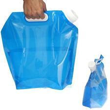 5L Portable Folding Water Storage Lifting Bag Camping Hiking Survival Kit Blue