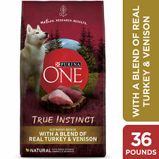 Purina One SmartBlend True Instinct Natural Real Turkey Venison Adult Dry 36 Lbs