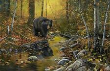 "Jim Hansel ""Last Days of Autumn Bear"" Print Signed and Numbered 28 x 19"