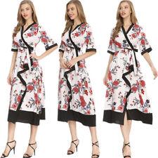 Богемный цветочный праздничная вечеринка повседневное длинное платье, женское, с коротким рукавом лето пляж платье