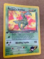 1st Edition Rocket's Scyther 13/132 - Gym Heroes Pokemon - (Near Mint)