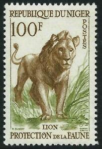 NIGER - 1959 WILD ANIMALS 100f 'BISTRE & GREEN'  MNH SG112 [A3010]
