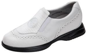 Sandbaggers Golf Shoes: Madison White Lizard