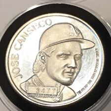 1988 Jose Canseco Oakland A's 40/40 MVP 1 Troy Oz .999 Fine Silver Ag Round Coin