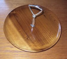Vintage 1950's/60's USA Made Turned Wood Cake Stand - Rare Myrtle wood