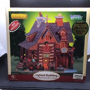 Lemax Vail Cumberland Lake Cottage Christmas Village House Cabin Building 55262