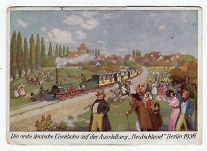 Germany - Berlin 1936 Railway Trail - Olympics Semi Postal Stamp - Used Postcard