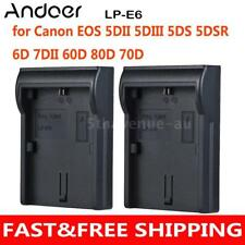 Andoer 2*LP-E6 Battery Plate Dual/Four Channel for Canon EOS 5DII 5DIII 5DS AU