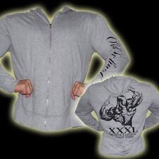 Explosive Fibres Grey Long Sleeved Full Zip Hoodie: XX-Large