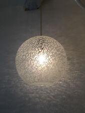 XL Eisglas Kugellampe 70er Jahre Design Bubble Lamp 35cm Limburg Doria Era