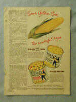 1949 Magazine Advertisement Page Green Giant Corn Niblets A&P Hot Cross Buns Ad