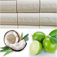 Soap Creamy Coconut & Lime All Natural 8 X 100g Bars Bulk - Tropical Soaps -