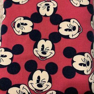 NWT LuLaRoe Disney Leggings One Size OS Winking Mickey Mouse Dark Pink
