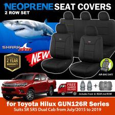 SharkSkin Neoprene Seat Covers for Toyota Hilux SR SR5 2Row's 7/2015-2019 GUN26R