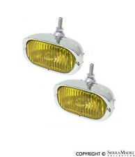 128 Fog Light Set, Amber, 12V, Porsche 356/911 (60-68), PCG.631.201.10, Hella