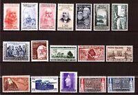 Repubblica - 1° Periodo - non linguellati - perfetti - Lotto 25 francobolli - 2