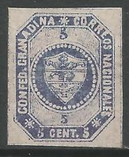 STAMPS-COLOMBIA. 1859. 5c Violet Blue (rare shade). Stone B. SG: 3. Mint Hinged.