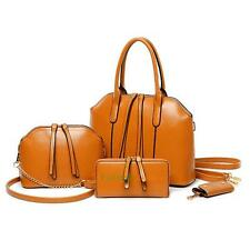6PCS Women Handbag Shoulder Bags Tote Purse PU Leather Ladies Messenger Bag UK