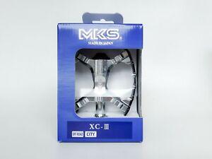 MKS XC-III Bear Trap Platform Pedals Silver-Black Modern Suntour XC