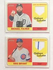 2018 Topps Heritage High Number Clubhouse Collection (2) Different Cards
