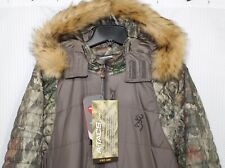 Browning Women Puffer Camo Hunting Parka Jacket, Water/Wind Resistant 3049953201