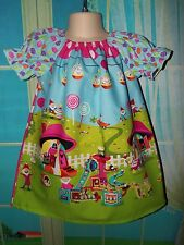 Handmade Easter/Summer Gnome Sweet Home Girls Dress Size 2t 3t- 4t Pick your sz