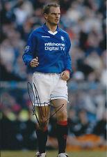 Ronald De BOER Signed 12x8 Photo AFTAL COA Autograph Glasgow Rangers Football